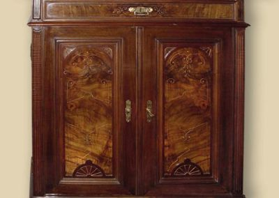 Mahogany-cabinet-restoration-london