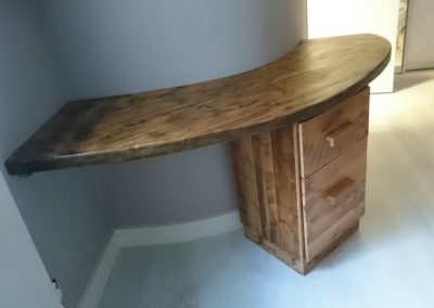 reclaimed pine waxed desk